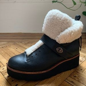 Coach Shearling Hiker Boot - WORN ONCE